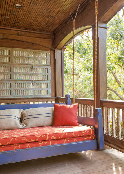 Rustic Porch by Key Residential