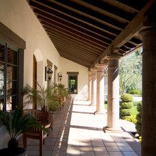 Mediterranean Porch by Francis Garcia Architect