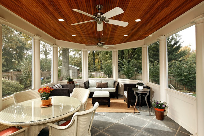 Traditional Porch by Case Design/Remodeling, Inc.