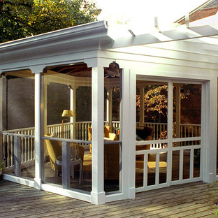 This is an example of a traditional veranda in DC Metro.