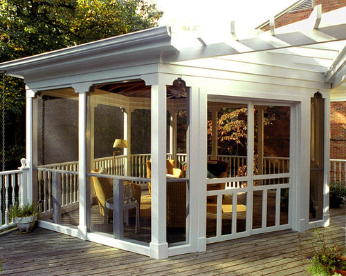 Inspiration For A Timeless Porch Remodel In DC Metro With A Pergola