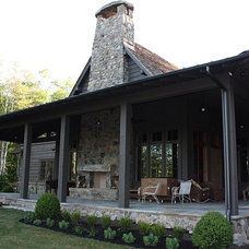 Rustic Porch by Wright Design