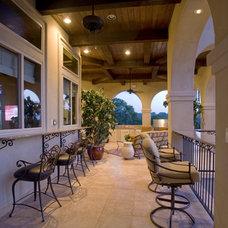 Mediterranean Porch by Stadler Custom Homes