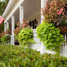 Farmhouse Porch by Charleston Home + Design Mag