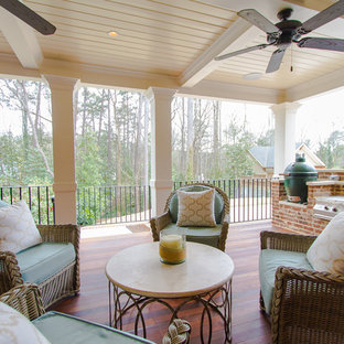 Classic outdoor kitchen porch idea in Atlanta