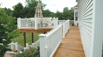 Cheshire Connecticut wooden deck and outdoor room