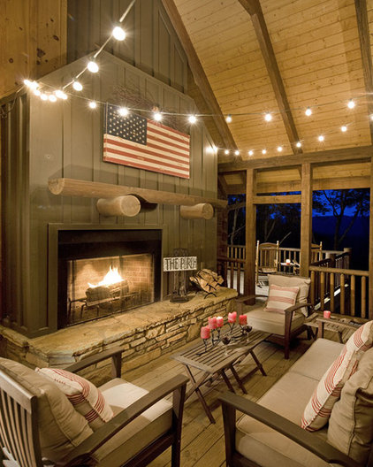 Traditional Porch by Modern Rustic Homes
