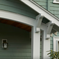 Craftsman Porch by Out of the Woods Construction & Cabinetry, Inc.