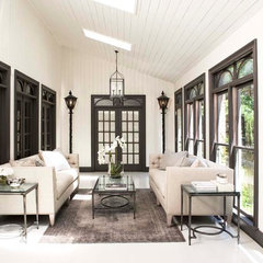 traditional porch by Linda McDougald Design | Postcard from Paris Home