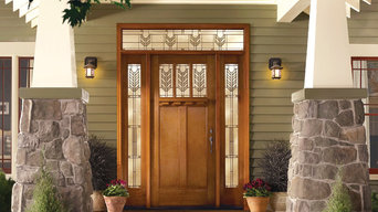Classic-Craft American Style door, sidelites and transom