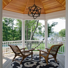 Transitional Porch by OLSON LEWIS + Architects