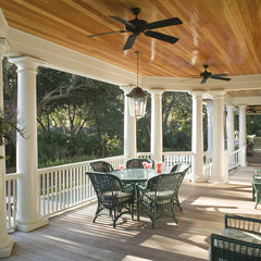 traditional porch by Christopher A Rose AIA, ASID