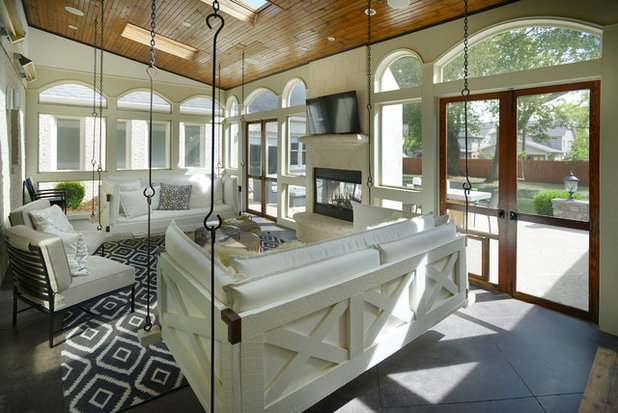 Transitional Porch by Redo Home and Design