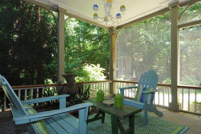 Eclectic Porch by Karen Parham - KMP Interiors