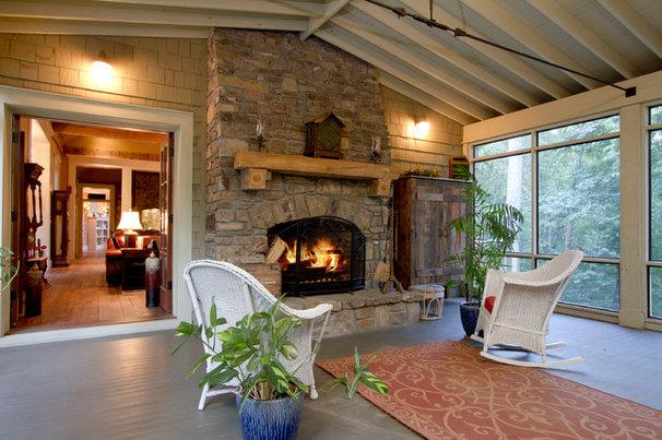 Traditional Porch by BlueStone Construction, LLC