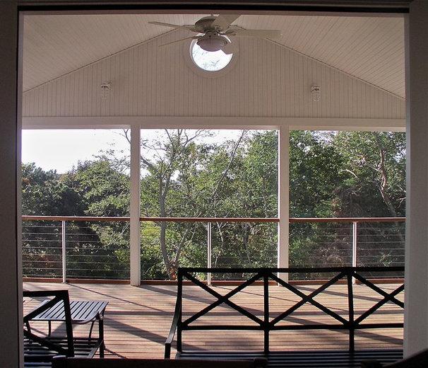Beach Style Porch by Joseph B Lanza Design + Building