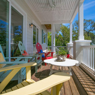 75 Most Popular Beach Style Turquoise Porch Design Ideas for
