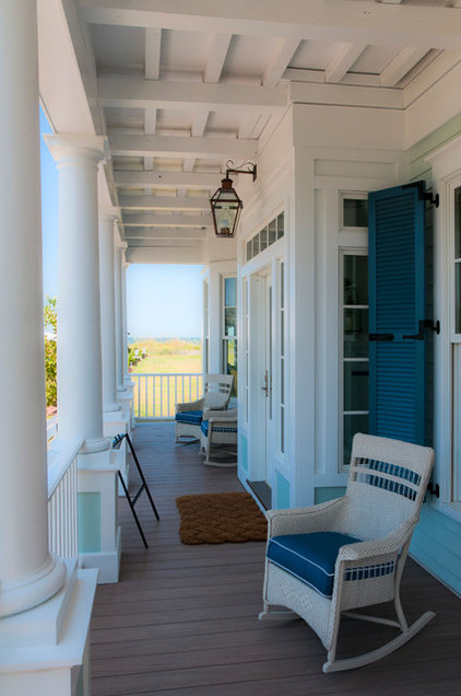 Traditional Porch by Mouzon Design