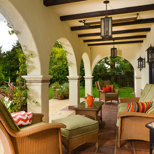 This is an example of a mediterranean porch design in San Francisco.