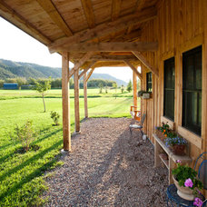 Farmhouse Porch by Sand Creek Post & Beam