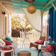 eclectic porch colorful porch