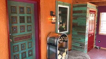 Colorful Southwest Modern Sun Porch