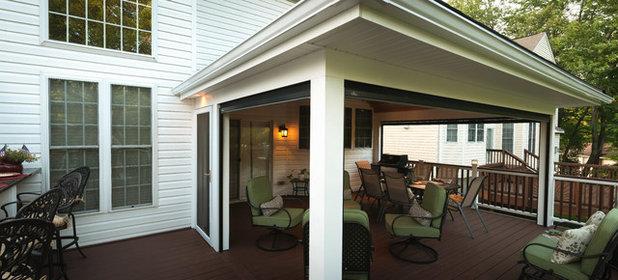 Traditional Porch by Fine Decks Inc.