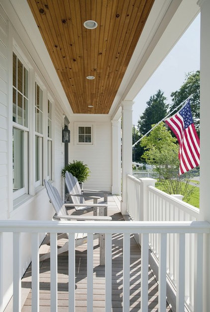 traditional porch by ZeroEnergy Design
