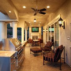 Traditional Porch by Martin Perri Interiors, Inc.