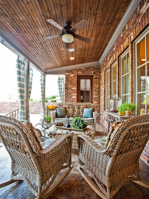 Back Porch Home Design Ideas, Pictures, Remodel and Decor on Covered Back Deck Ideas id=58380
