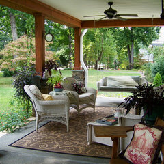 eclectic porch Cottage Gardens