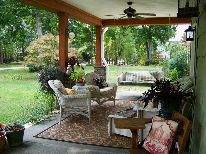 Traditional Porch Cottage Gardens
