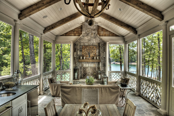 Traditional Porch by Gabriel Builders Inc.