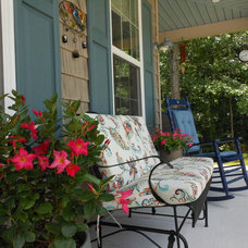 Farmhouse Porch by Front Porch Ideas and More