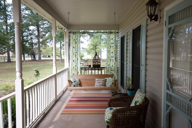 Farmhouse Porch by First Street Interiors