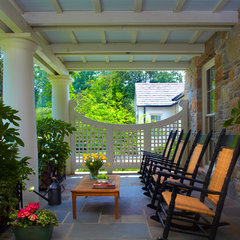 traditional porch by Land Plus Associates, Ltd