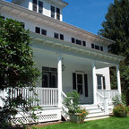 Greek Revival Remodel Screened Porch Traditional