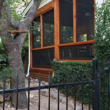Covered Deck to Screened Porch Conversion in NW Austin