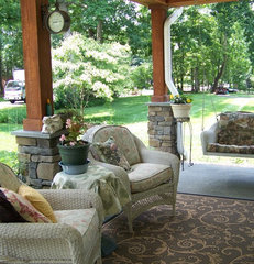 traditional porch Craftsman Cottage Front Porch