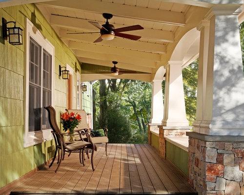 Art deco porch columns home design ideas renovations photos for Arts and crafts porch columns