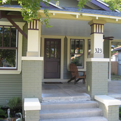 traditional porch by Green Button Homes LLC