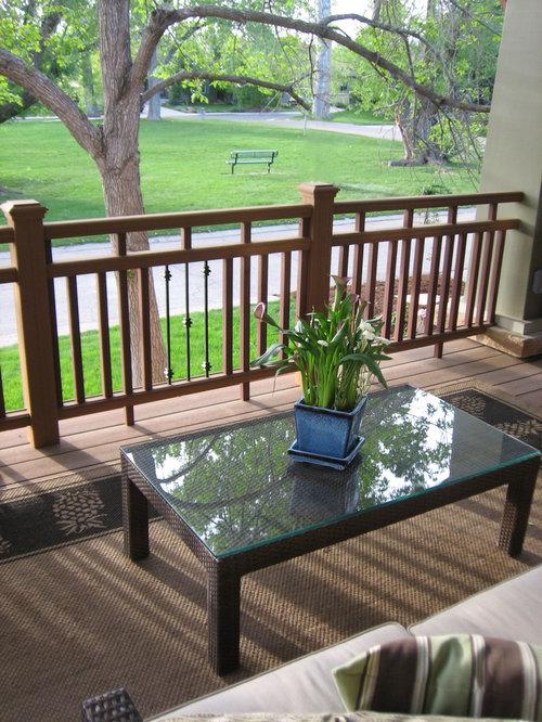 Wooden Porch Railing   Houzz