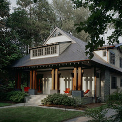 asian porch by Gardner Mohr Architects LLC