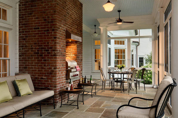Traditional Porch by Crisp Architects