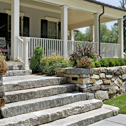 Stone Slab Steps Porch Design Ideas Pictures Remodel Decor
