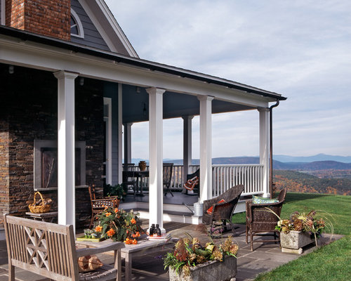 Covered back porch houzz for Covered back porch