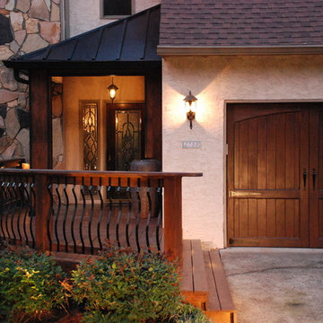 Curved Railing Front Porch