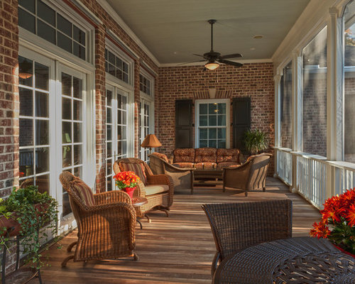 Screened back porch houzz for Screened in back porch designs
