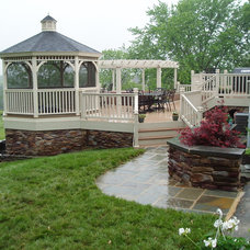 Traditional Porch by Creative Deck Designs