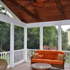 Traditional Porch by Mingioni Construction Company